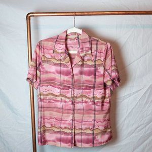 Funky Pink Polyester Blouse